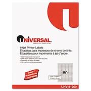 Universal Inkjet Printer Labels 1/2 x 1-3/4 Clear 80 Per Sheet 2 000 per Pack (AZRUNV81200)