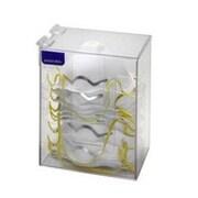 RackEm Racks Long Dust Mask Dispenser with Lid - White Heavy- Duty Plastic (HRZM144)