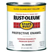 Rustoleum 1 Quart Sunburst Yellow Protective Enamel Oil Base Paint (JNSN27243)