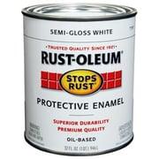 Rustoleum 1 Quart Semi Gloss White Protective Enamel Oil Base Paint (JNSN27244)