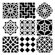 The Crafters Workshop 12 in. x 12 in. Design Template Moroccan Tiles (ALV29111)