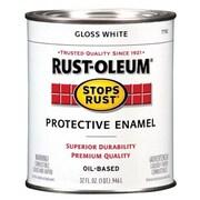 Rustoleum 1 Quart High Gloss White Protective Enamel Oil Base Paint (JNSN27242)