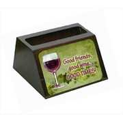 Carolines Treasures Good Friends, Good Wine, Good Times Business Card Holder( CRLT56053)