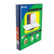 Bazic Products 1 in. Blue 3-Ring View Binder with 2-Pockets - Pack of 12( BAZC1687)