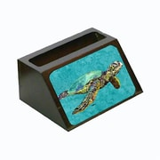 Carolines Treasures Turtle Decorative Desktop Professional Wooden Business Card Holder( CRLT13590)