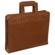 Piel Leather Three-Ring Binder With Handle - Saddle( PIEL1446)