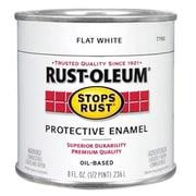 Rustoleum .50 Pint Flat White Protective Enamel Oil Base Paint (JNSN15683)