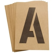 Hy-ko 6 in. Reusable Number & Letter Stencil - Pack of 6 (JNSN58797)