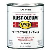 Rustoleum 1 Quart Flat White Protective Enamel Oil Base Paint (JNSN27246)