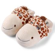 Aerusi Women Home Spa Plush Slipper Giraffe One Size Fits All