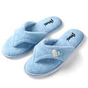Aerusi Woman Splash Spa Slipper Relax Home Blue Size 6