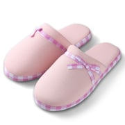 Aerusi Woman Checker Slide Slipper Pink Size 5 - 6