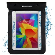SumacLife Waterproof Pouch Case Black For use with 7 - 8 Inch Tablets