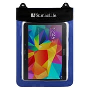 SumacLife Waterproof Pouch Case Blue For use with 10 Inch Tablets