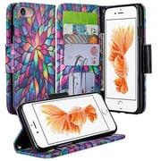 SumacLife Wallet Stand Case iPhone 7 Plus Rainbow Petals