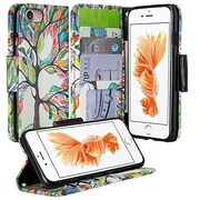SumacLife Wallet Stand Case iPhone 7 Plus Rainbow Tree