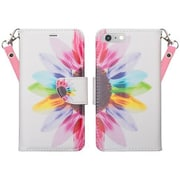SumacLife Wallet Stand Case iPhone 7 Plus Rainbow Sunflower