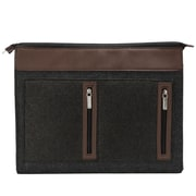Vangddy Exo Woolen Felt Laptop Sleeve 15.6 Inch Brown