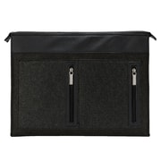 Vangddy Exo Woolen Felt Laptop Sleeve 17.3 Inch Black