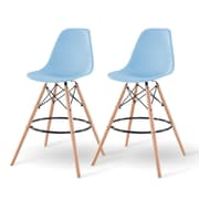 IRIS® Plastic Shell Bar Stool, 2 Pack, Blue (586753)