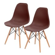 IRIS® Plastic Shell Chair, 2 Pack, Brown (586704)