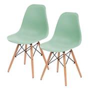 IRIS® Plastic Shell Chair, 2 Pack, Light Green (586710)