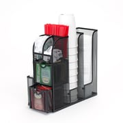 Mind Reader 'Organizer' Coffee Condiment Organizer, Black Metal Mesh