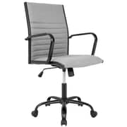 Lumisource Master Contemporary Fabric Office Chair, Light Gray (OFC-AC-MSTF LGY)