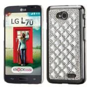 Insten Hard Rhinestone Cover Case For LG Optimus Exceed 2 VS450PP Verizon/Optimus L70 /Realm - Silver