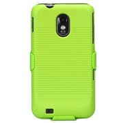 Insten Rubberized Green Hybrid Hard Shockproof Holster Case for SAMSUNG D710 (Epic 4G Touch) R760 (Galaxy S II) S2 4G