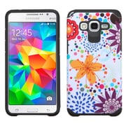 Insten Flower Buds Hard Dual Layer Rubber Silicone Case For Samsung Galaxy Grand Prime - Colorful/White