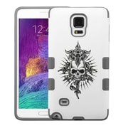 Insten Tuff Merge Furious Skull Hard Case For Samsung Galaxy Note 4 - White/Gray