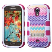 Insten Tuff Camo Wave Hard Hybrid Rubber Coated Silicone Case with Stand For Samsung Galaxy Light - Colorful
