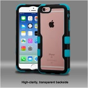 Insten Hard Dual Layer Crystal Silicone Cover Case For Apple iPhone 6/ 6s - Clear/Blue