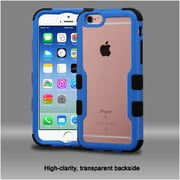 Insten Hard Hybrid Crystal Silicone Cover Case For Apple iPhone 6 / 6s - Clear/Blue