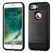 Insten Dual Layer Soft TPU Hard Plastic Ultra Slim Case For iPhone 7 - Black