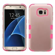 Insten Tuff Hard Hybrid 2-Layer Case For Samsung Galaxy S7 Edge - Rose Gold/Pink