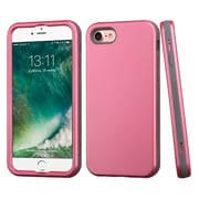 Insten Rubberized Pearl Pink/Iron Gray Hybrid Dual Layer Case Cover for Apple iPhone 7