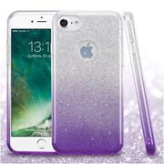 Insten Glitter Hybrid Hard Plastic/Soft Flexible Rubber Case For iPhone 7 - Purple