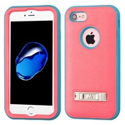 Insten Ultra Slim Hybrid 3-Layer Shockproof Kickstand Case For Apple iPhone 7 - Pink/Teal