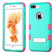 Insten Teal Green/Electric Pink TUFF Hybrid Dual Layer Phone Stand Case Cover for Apple iPhone 7 Plus