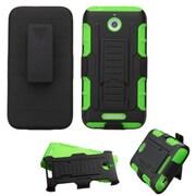 Insten Car Armor Hard Hybrid Plastic Silicone Case w/Holster For HTC Desire 510 - Black/Green
