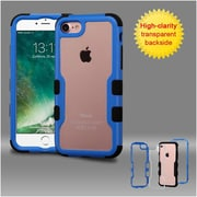 Insten Dark Blue Frame+Transparent PC Back/Black TUFF Vivid Hybrid Case Cover for Apple iPhone 7