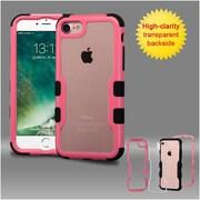Insten Pink Frame+Transparent PC Back/Black TUFF Vivid Hybrid Case Cover for Apple iPhone 7