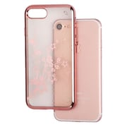 Insten Spring Flowers Flexible Rubber Skin Case Cover For Apple iPhone 7 - Rose Gold