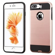 Insten Dual Layer Hybrid Soft TPU Hard Shell Case For Apple iPhone 7 Plus - Rose Gold/Black