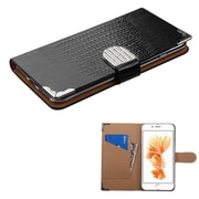 Insten Black Crocodile Skin Wallet Leather Flip Case for Apple iPhone 7 Plus (with Metal Diamonds Buckle)