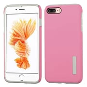Insten Hybrid Dual Layer Silicone Hard Cover Case For Apple iPhone 7 Plus - Pink/Gray