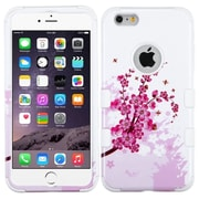 """Insten Tuff Spring Flower Hard Hybrid Rubber Coated Silicone Cover Case For Apple iPhone 6 Plus 5.5"""" - White"""