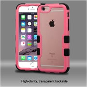 Insten Hard Dual Layer Crystal Silicone Case For Apple iPhone 6s Plus / 6 Plus - Clear/Pink